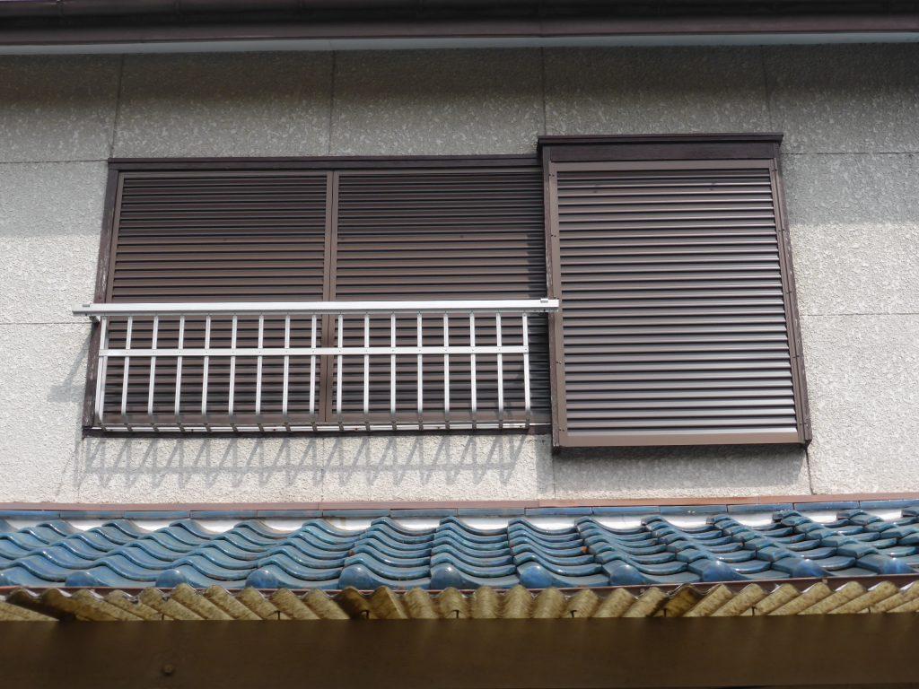 改修した2階北東側の雨戸
