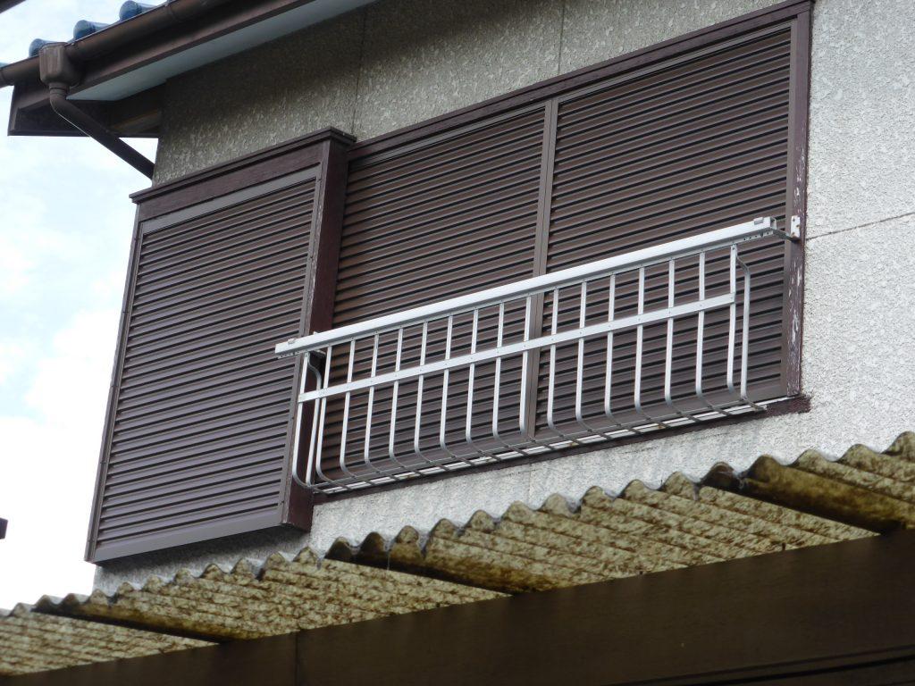 改修した2階南東側の雨戸