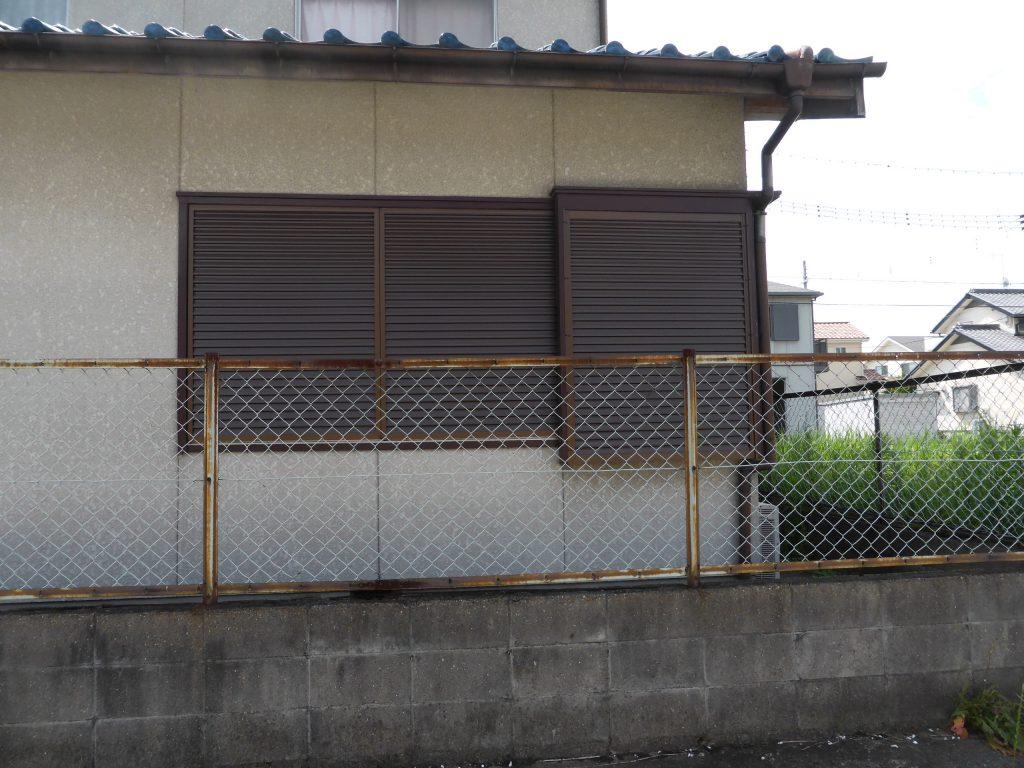 改修した1階西側の雨戸