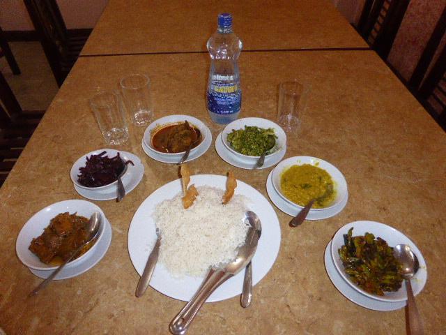 スリランカの代表的な料理ライス&カレー
