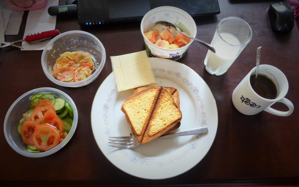 品数が多くボリュームのある朝食