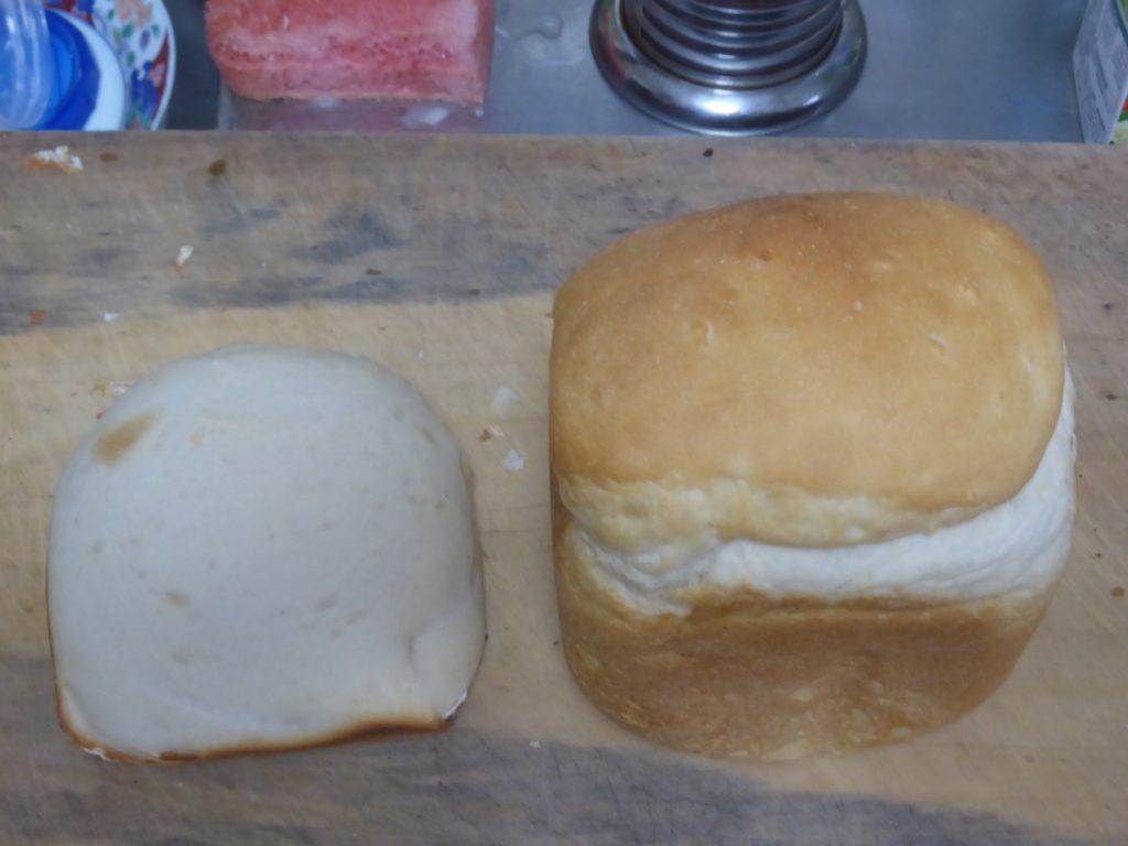 タイガーとパナソニックのホームベーカリーで焼いたパン