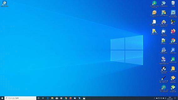 Windows10のインストールが正常終了した後の初期画面