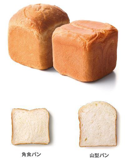 山型パンと角食パン
