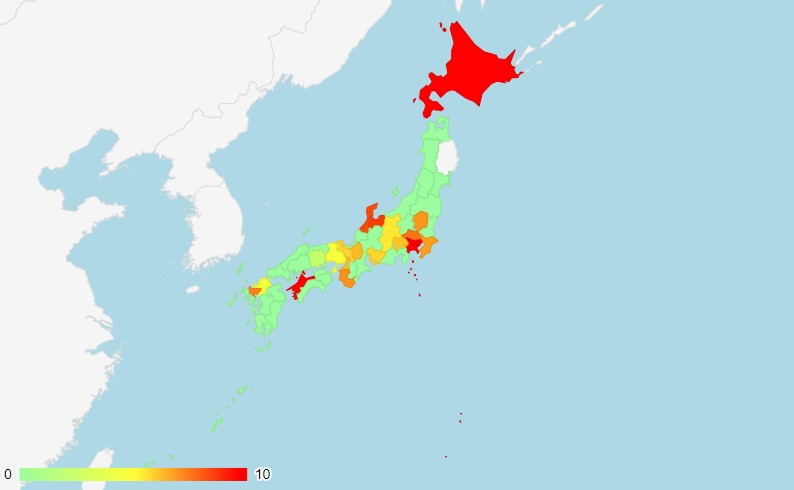 新型コロナウイルス感染状況マップ